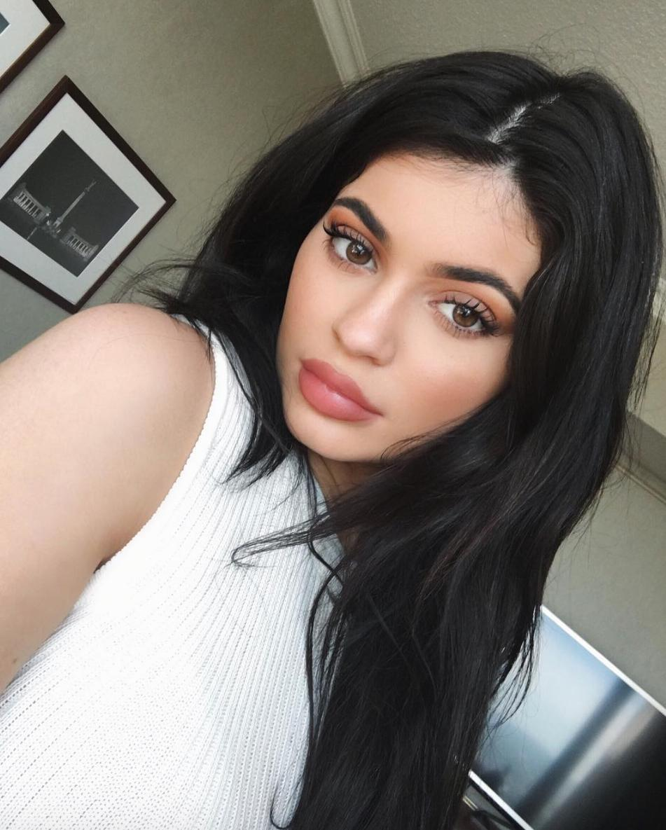 Kylie Jenner selfie with big lips