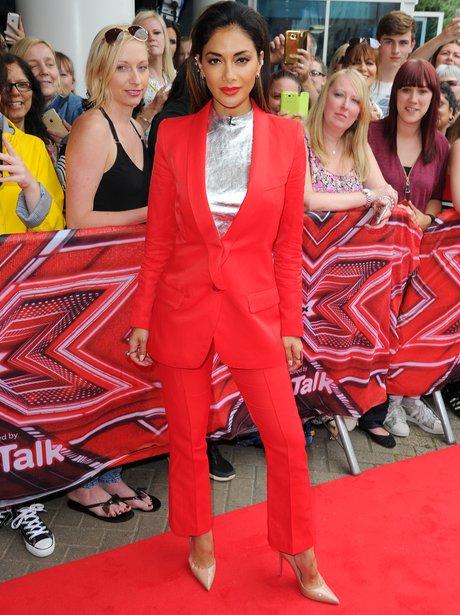 Nicole Scherzinger arrives at X Factor auditions