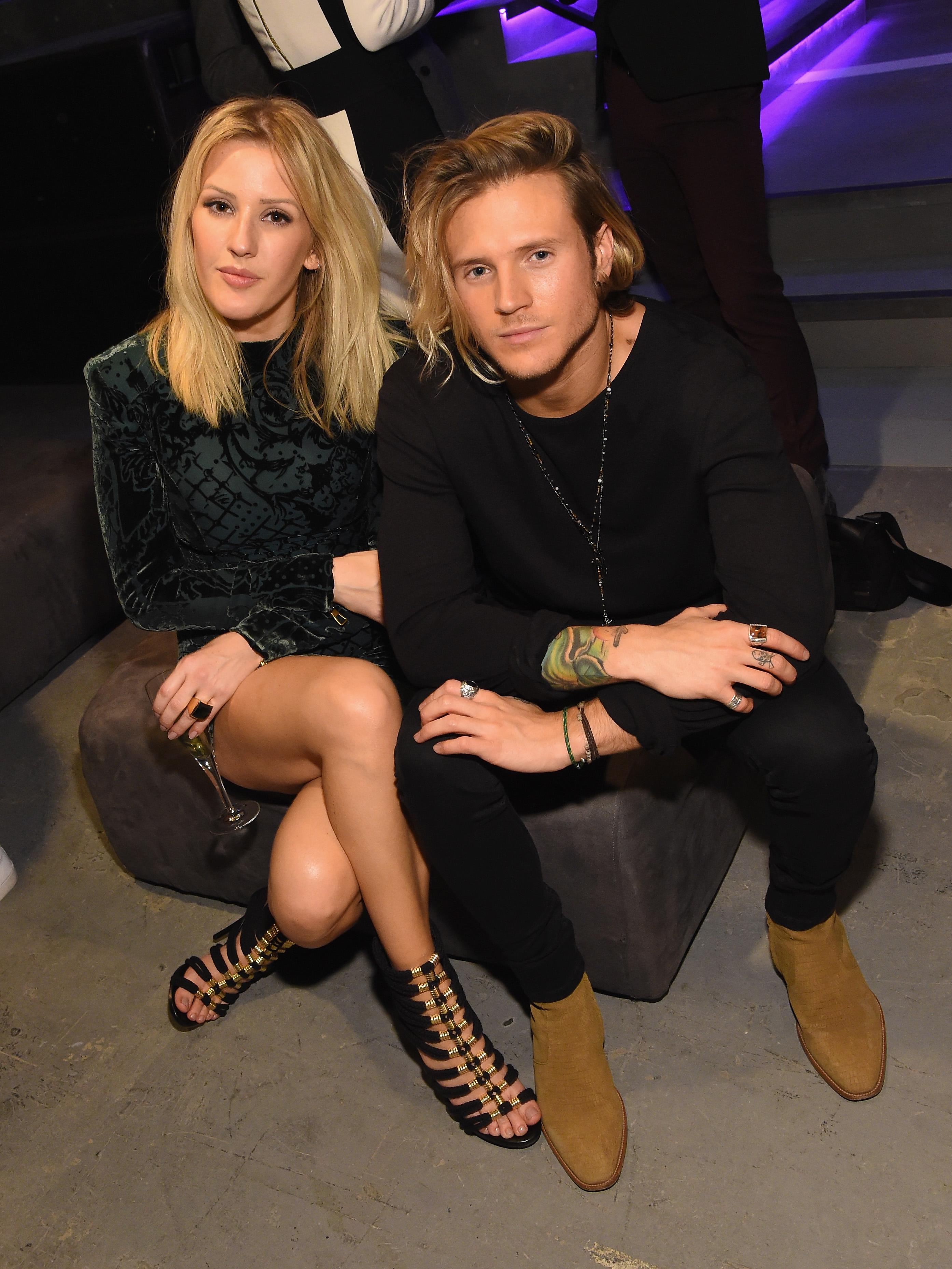 Ellie Goulding and Dougie Poynter BALMAIN X H&M Co