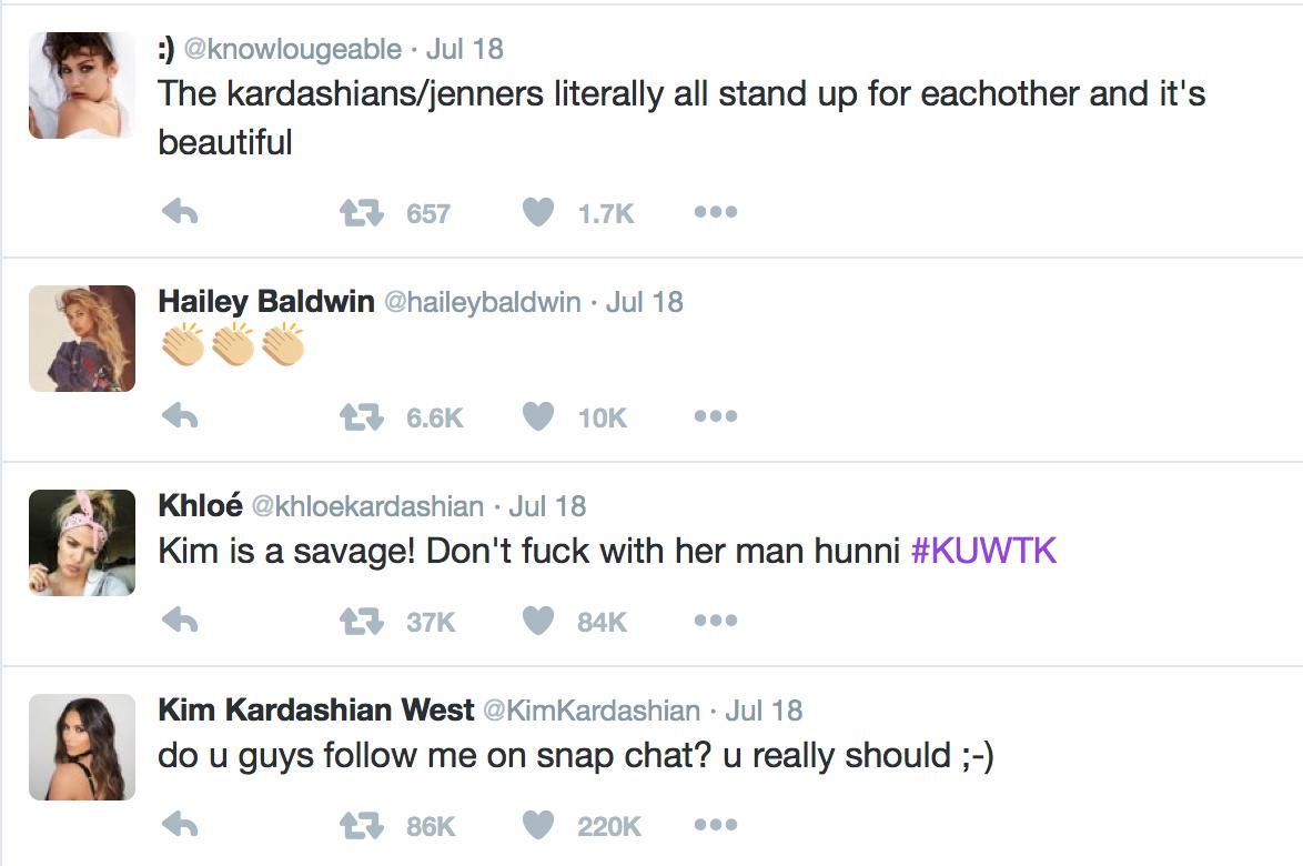 Kendall Jenner Twitter likes