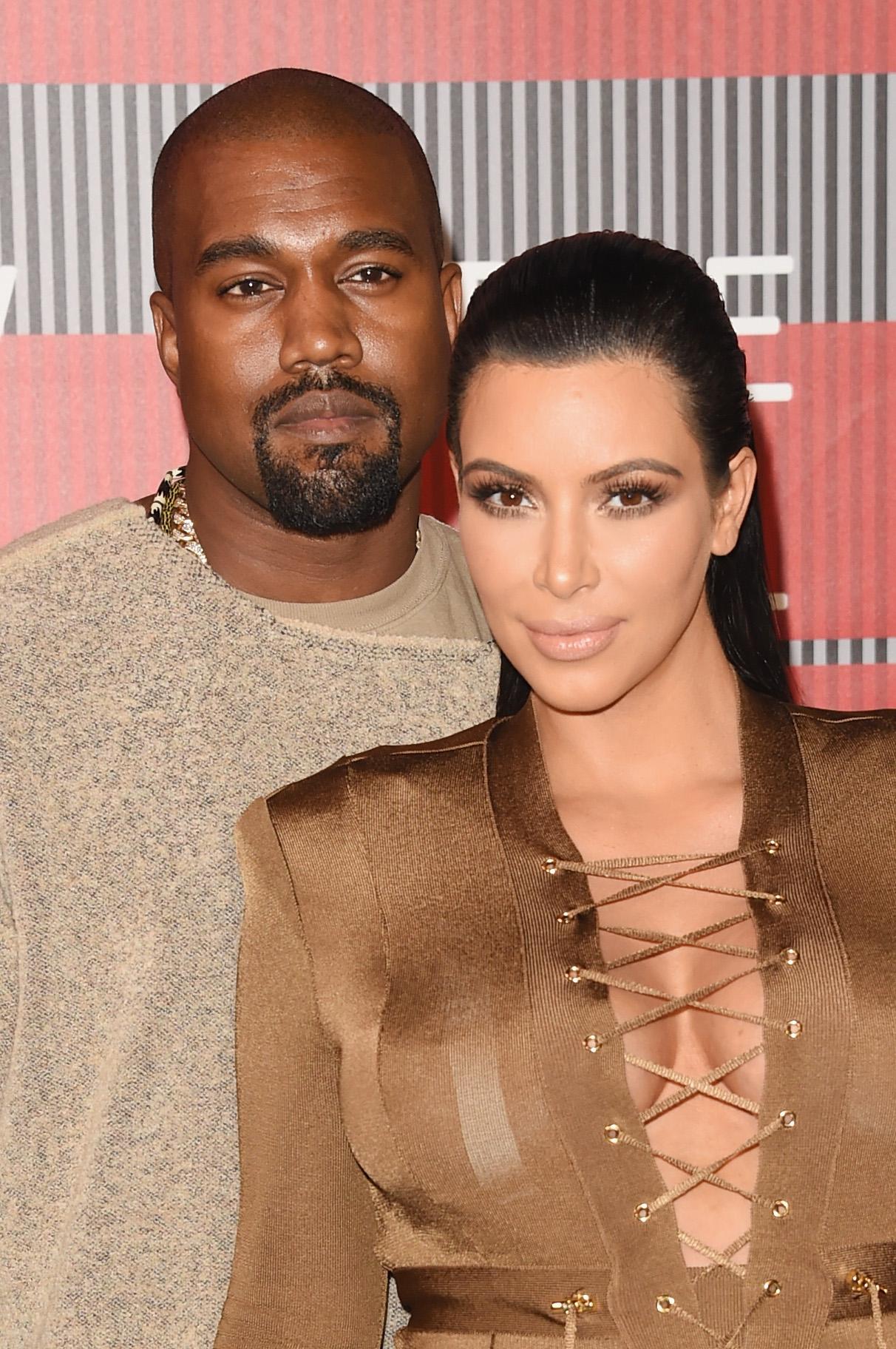 Kim Kardashian & Kanye West at 2015 MTV Video Musi