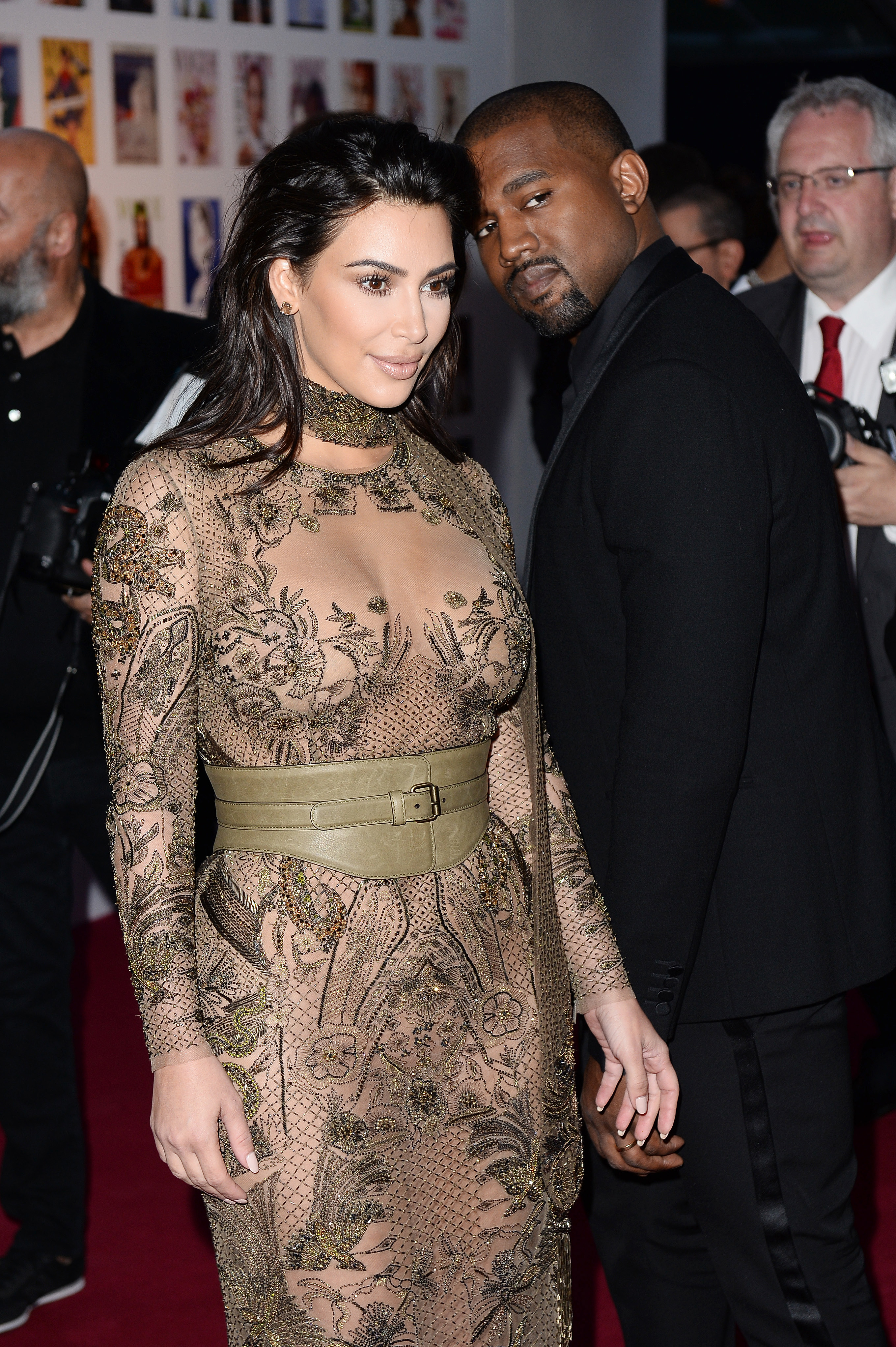 Kim Kardashian & Kanye West at Vogue 100 Festival