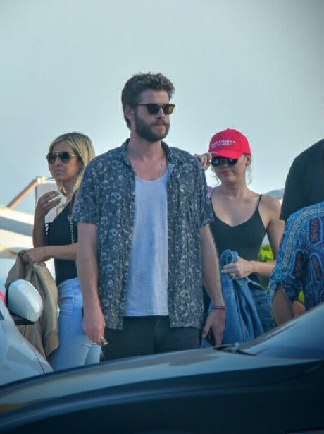 Liam Hemsworth and Miley Cyrus enjoy lunch date as