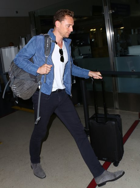 Tom Hiddleston arrives in LA airport