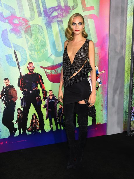 Cara Delevingne at the Suicide Squad premiere