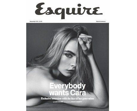 Cara Delevingne poses for Esquire UK
