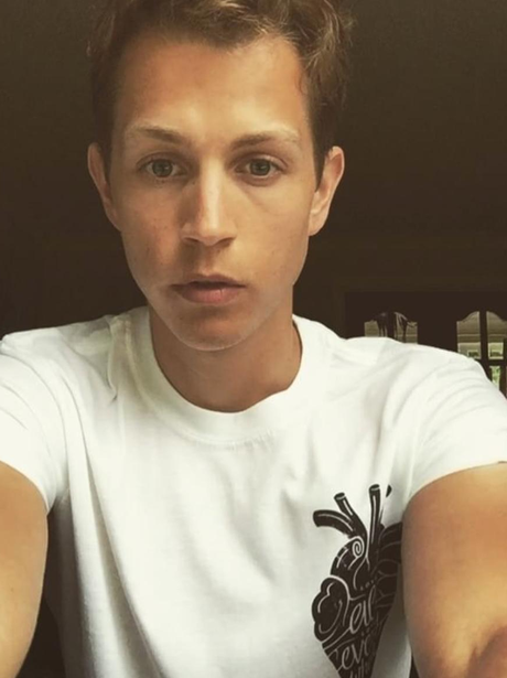 James McVey supports CentrePoint in white t-shirt
