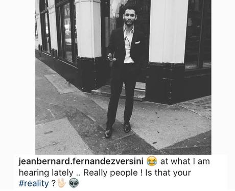 Jean Bernard Fernandez Versini is not happy on Ins
