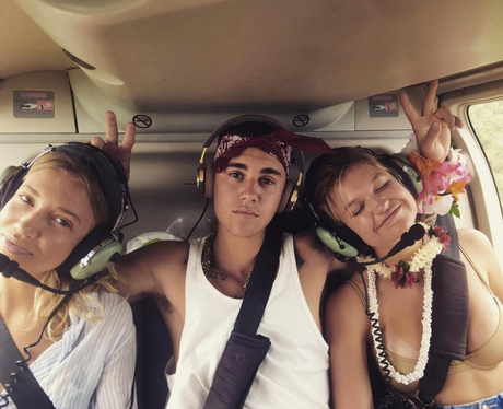 Justin Bieber hangs with loads of girls as he cont