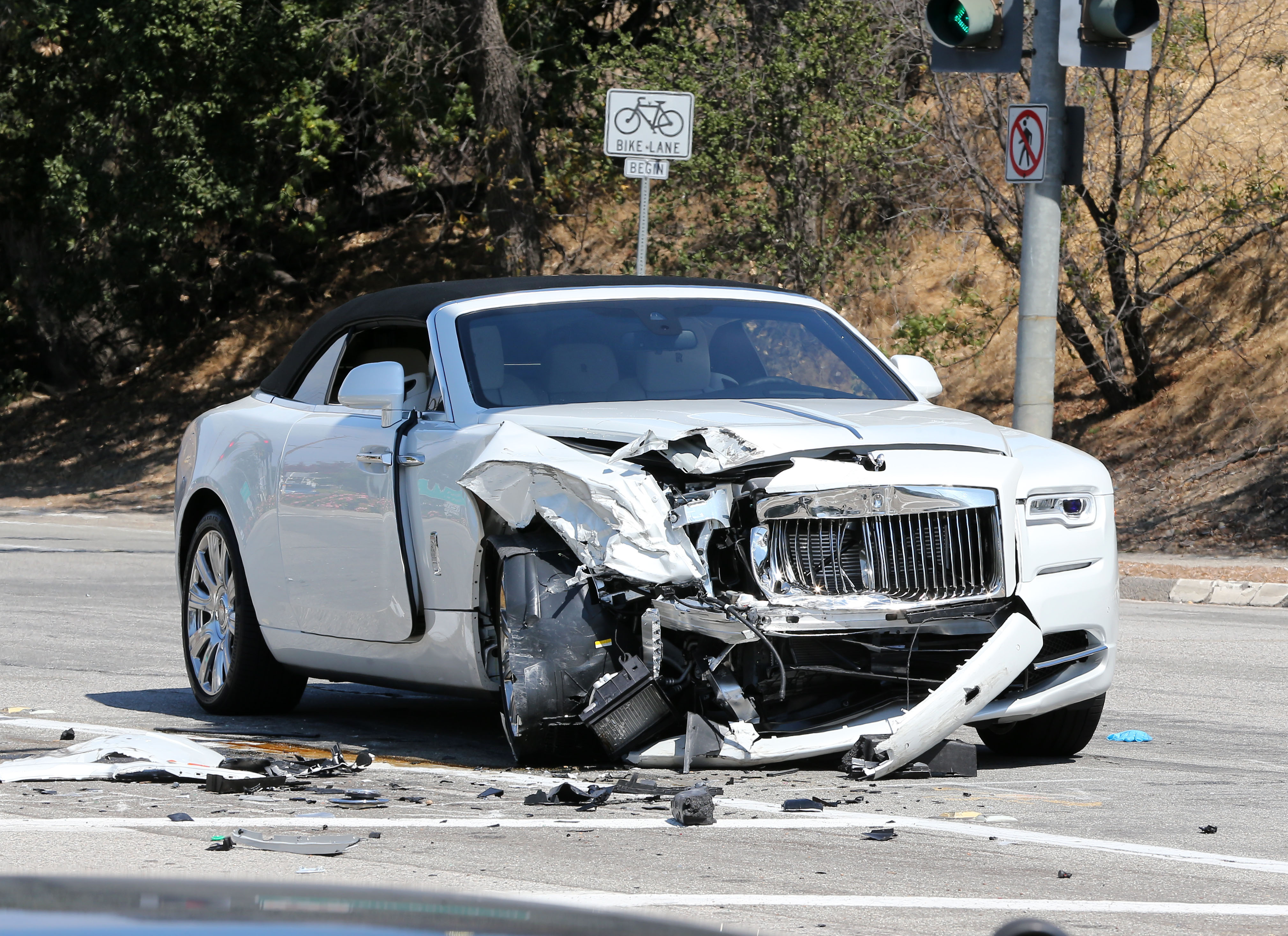 Kris Jenner totals her Rolls Royce after one week