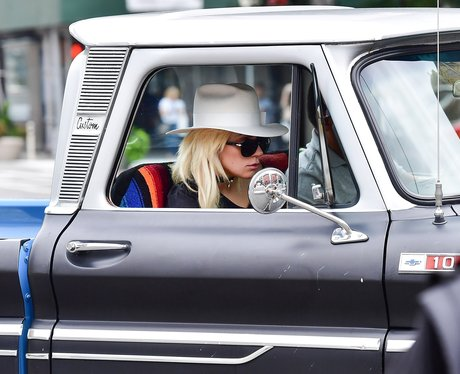 Lady Gaga goes full cowgirl in hat and vintage Che