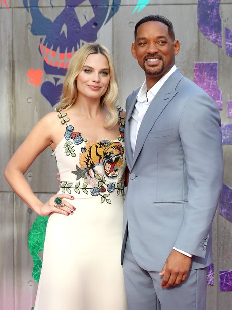 Margot Robbie and Will Smith cosy up at Suicide Sq