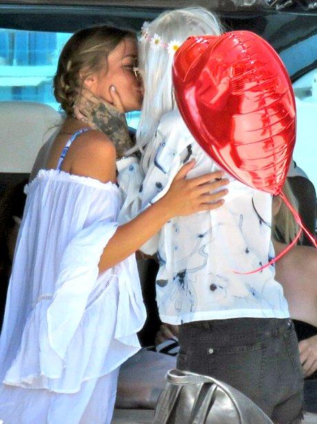 Ruby Rose kisses her girlfriend on board boat in w