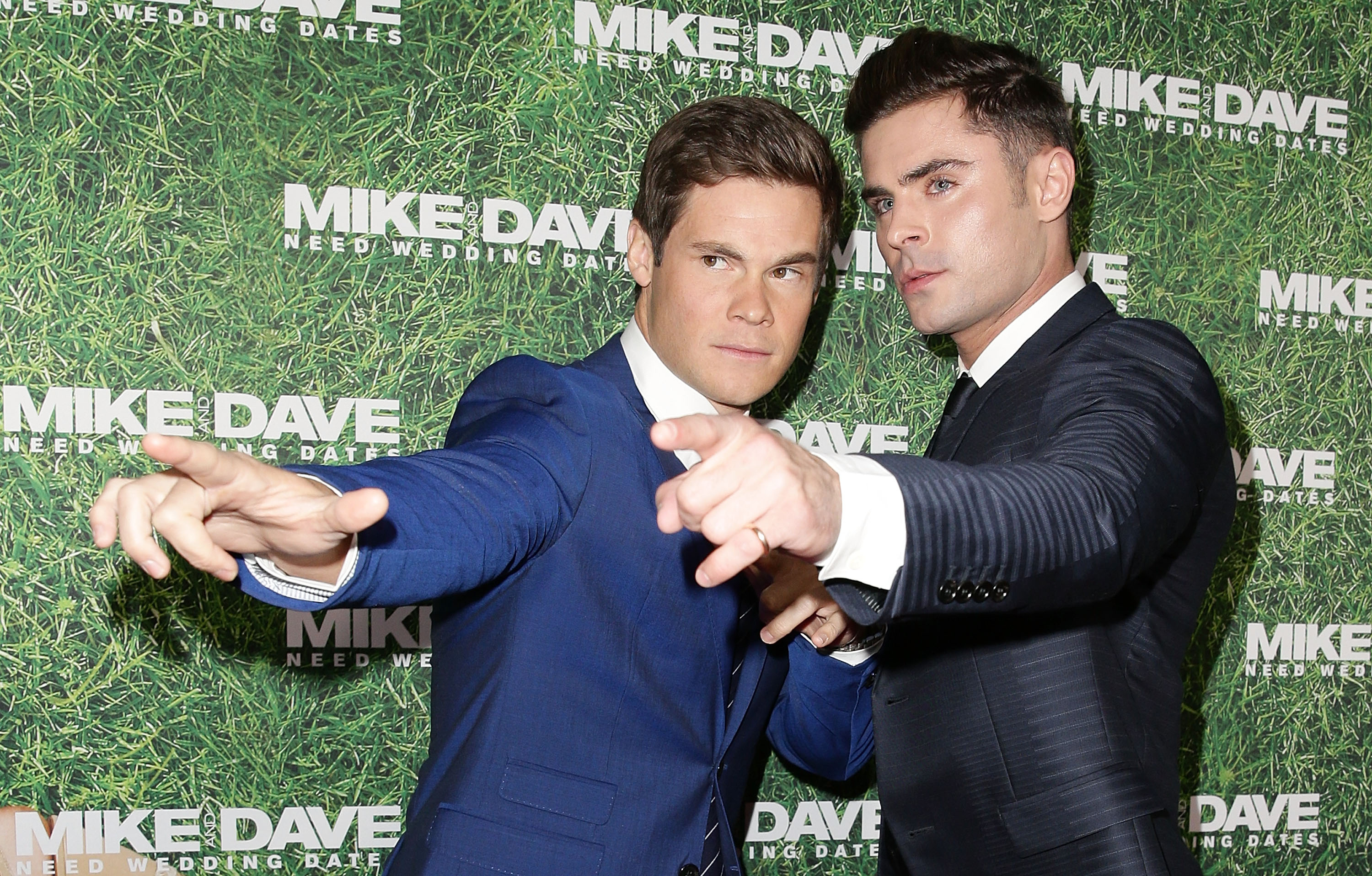 Zac Efron and Adam Devine at Mike And Dave Need We