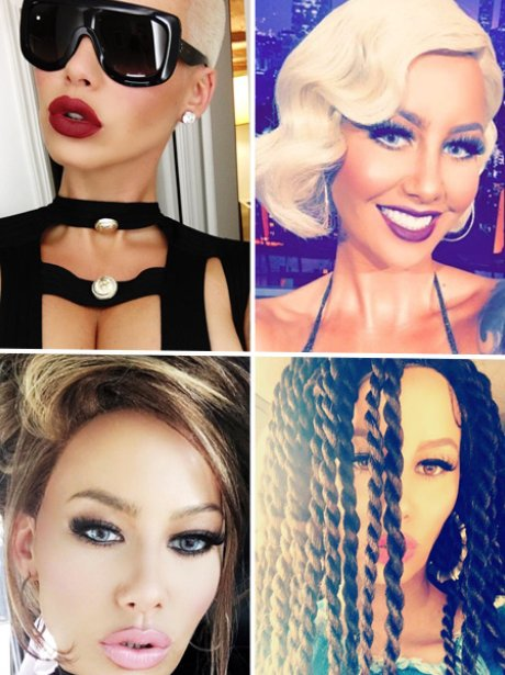 Amber Rose Hair Transformation