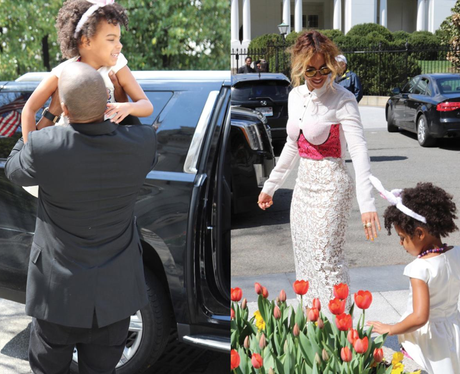 Beyonce enjoys a day out with Jay-Z and Blue-Ivy