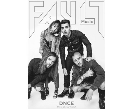 DNCE on the cover of Fault Magazine