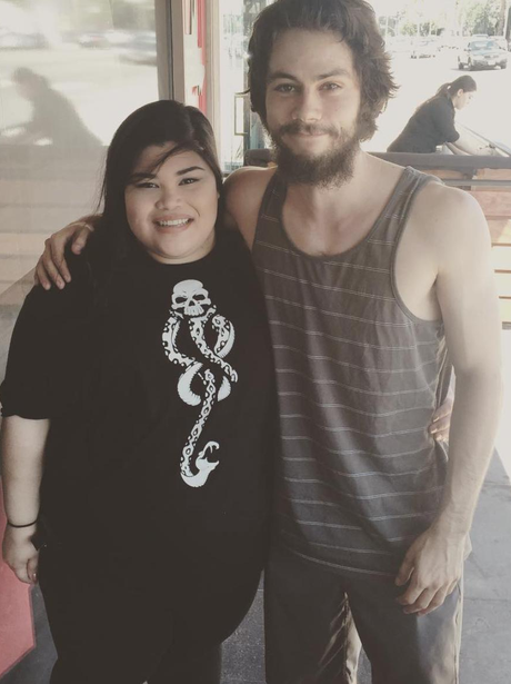 Dylan O'Brien spotted with a fan after accident