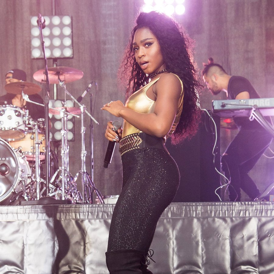 Fifth Harmony member Normani Kordei performs on NB