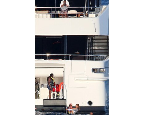 Beyonce and Jay-Z on a yacht