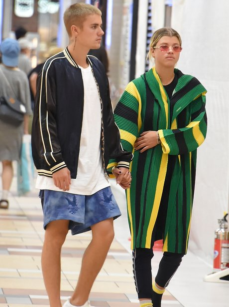 Justin Bieber and Sofie Richie hold hands