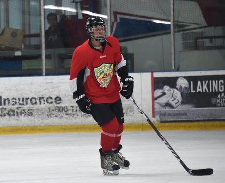 Justin Bieber plays ice hockey