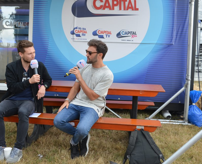 Philip George Will Manning backstage V Festival 20