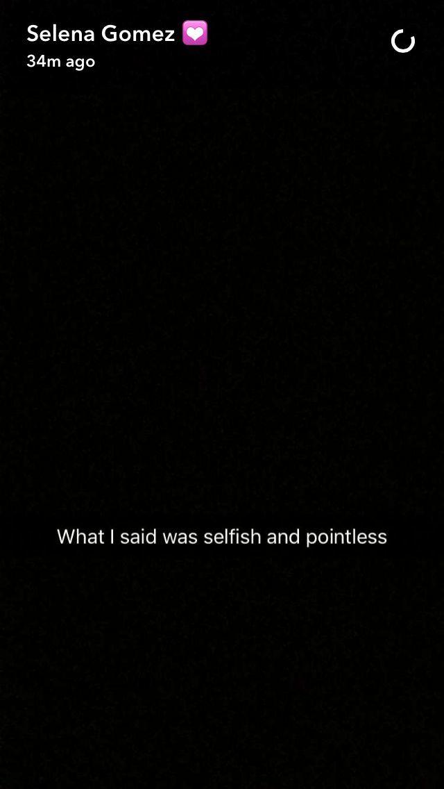 Selena Gomez Snapchat