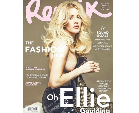 Ellie Goulding on the cover of Remix magazine