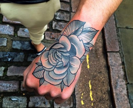 Gaz Beadle shows off floral tattoo in tribute to h