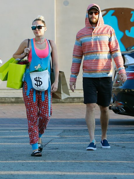 Miley Cyrus and Liam Hemsworth out shopping with n