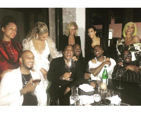 Alicia Keys, Beyonce, Jay-Z, Kim Kardashian, Kanye