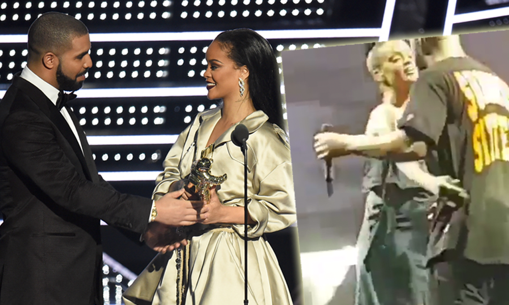 Drake & Rihanna Kiss