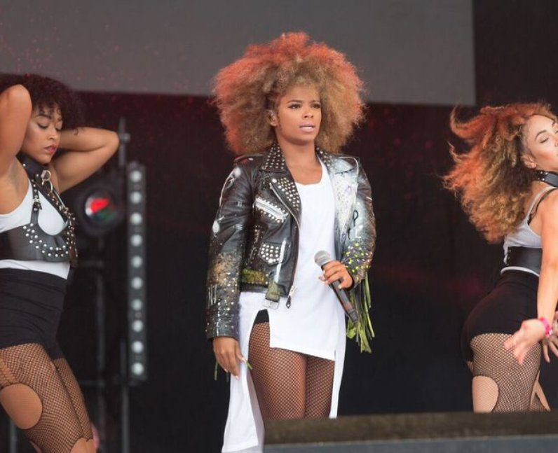 Fleur East Backstage at Fusion Festival 3