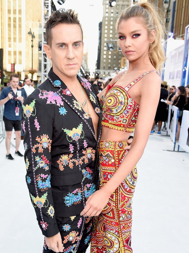 Jeremy Scott and Stella Maxwell Red Carpet Arrival