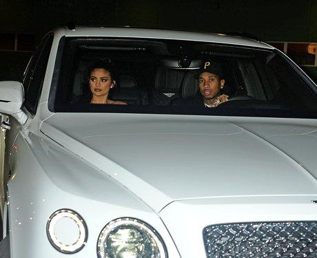 Kylie Jenner and boyfriend Tyga in Bentley