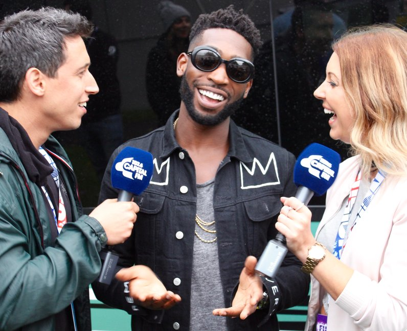 Tinie Tempah Backstage At Fusion Festival 2016
