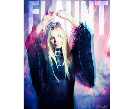 Britney Spears on the cover of Flaunt Magazine
