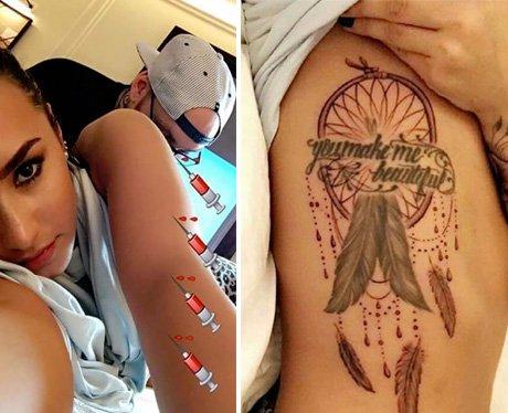 Demi Lovato gets a new tattoo