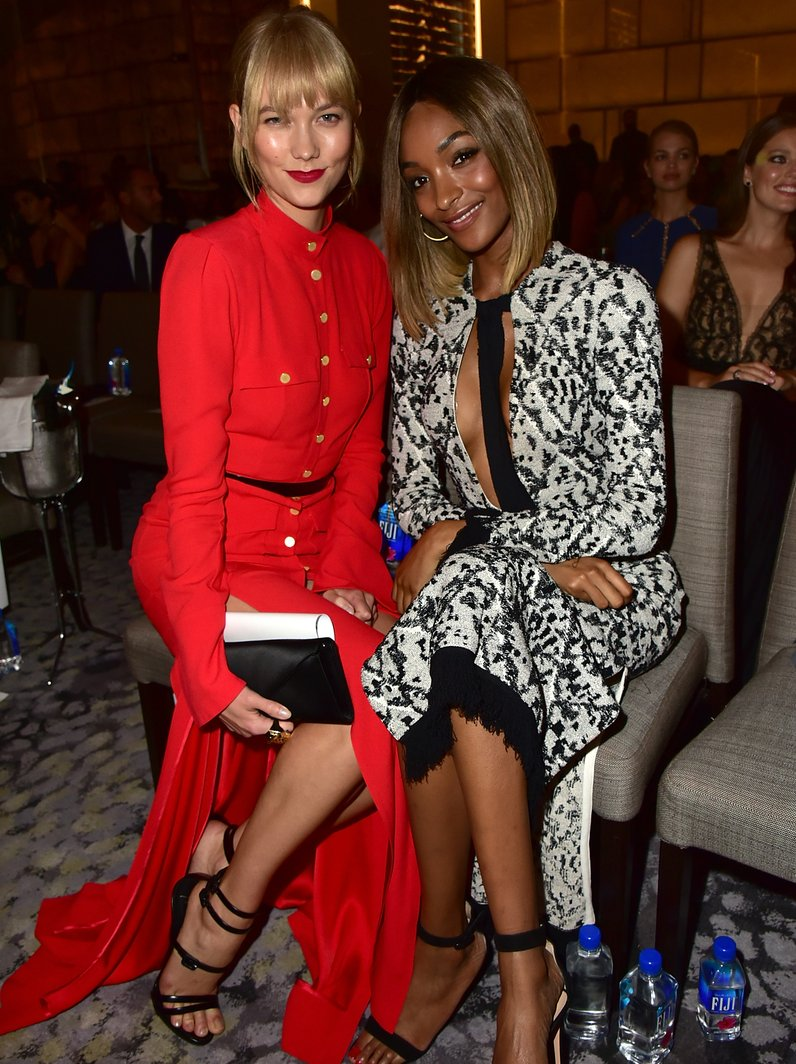 Karlie Kloss and Jourdan Dunn at FIJI Water at The