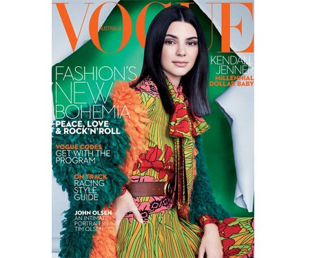 Kendall Jenner covers Vogue Australia