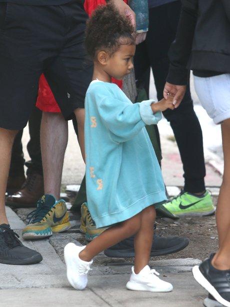 ADORABLE. North West wears baby Yeezy