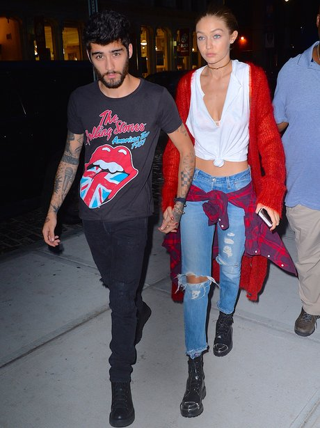 Gigi Hadid and Zayn Malik hang out in between fash