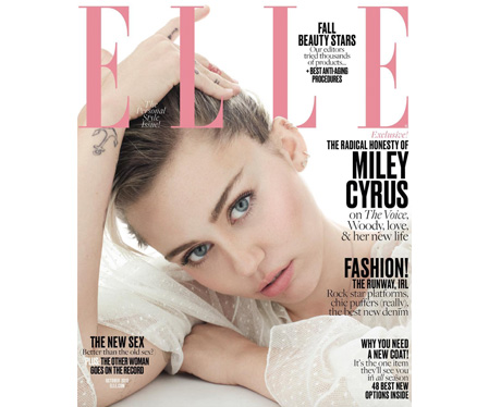 Miley Cyrus covers Elle USA