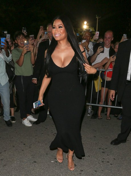 Nicki Minaj arrives at New York Fashion Week