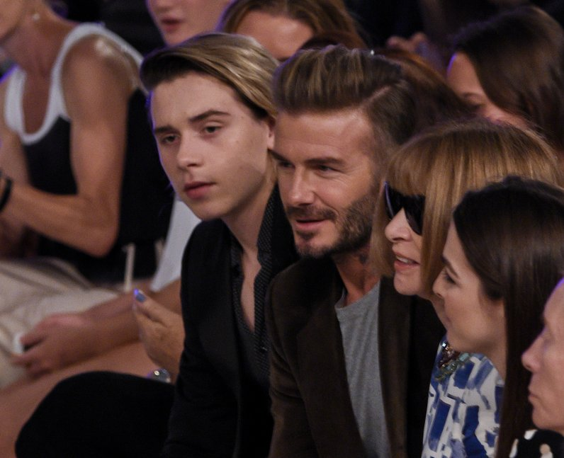 NYFW SS17 Beckhams sit FROW at Victoria Beckham