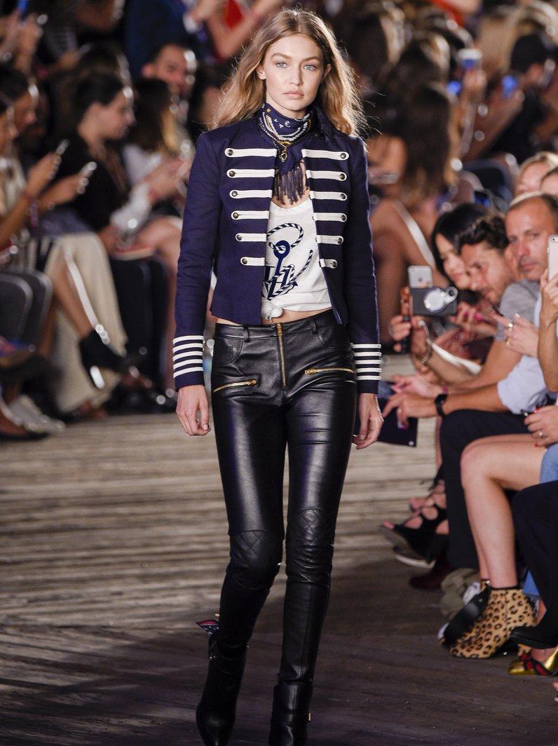 NYFW SS17 Gigi Hadid walks in Tommy Hilfiger
