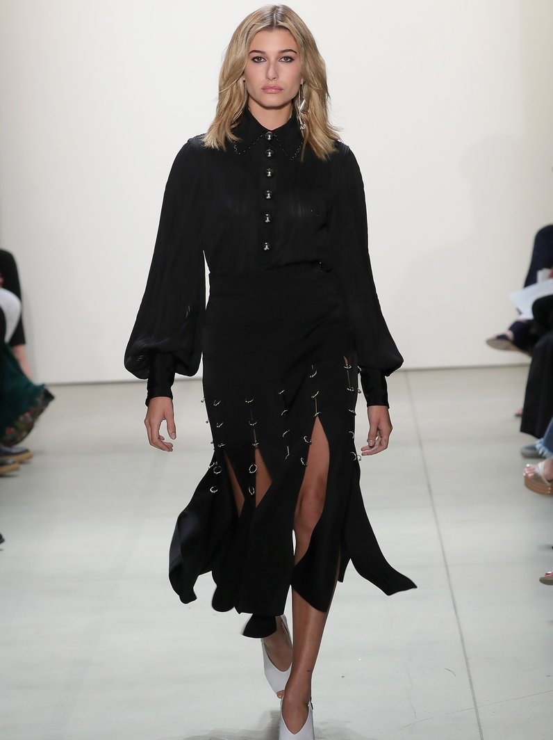 NYFW SS17 Hailey Baldwin walks in Prabal Gurung