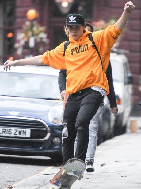Brooklyn Beckham in Justin Bieber's merch