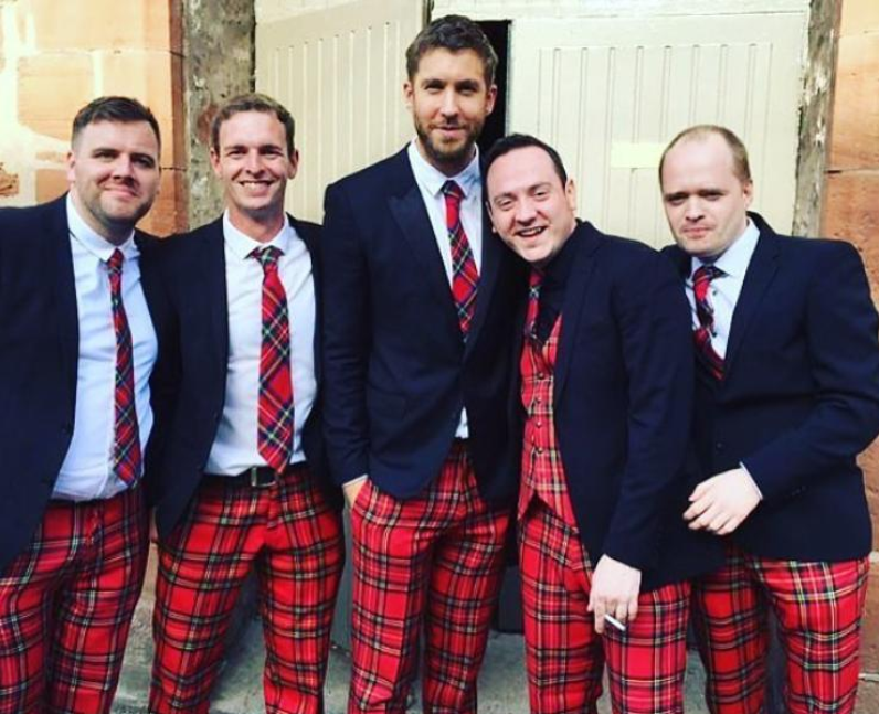 Calvin Harris is best man at pals wedding and wear